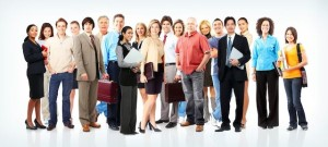 group of businesspeople small